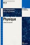 Ministère Education Nationale - Physique 2e - Accompagnement des programmes.