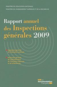 Ministère Education Nationale - Rapport annuel des Inspections générales 2009.