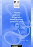 Ministère Emploi et Solidarité - Concours national de praticien d'établissements publics de santé. - Epreuves écrites des concours 1997 à 2000.