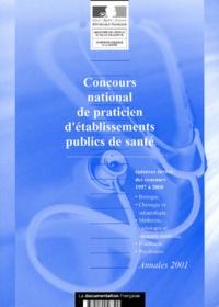 Deedr.fr Concours national de praticien d'établissements publics de santé. - Epreuves écrites des concours 1997 à 2000 Image
