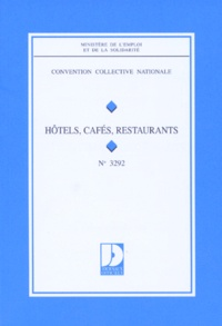 Convention Collective N 3292 Hotels Cafes Ministere Emploi