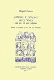 Miquèla Stenta - Femnas e domnas occitanes des XIIe et XIIIe siècles - Etats et étapes de la vie des femmes.