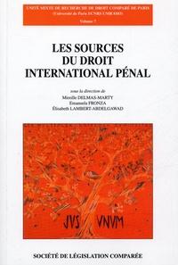 Mireille Delmas-Marty et Emanuela Fronza - Les sources du droit international pénal - L'expérience des Tribunaux Pénaux Internationaux et le Statut de la Cour Pénale Internationale.
