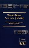 Mireille Duchêne - Virginia Woolf - Carnet inédit (1907-1909).