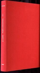 Mireille Huchon - Etudes rabelaisiennes - Tome 16, Rabelais grammairien : de l'histoire du texte aux problèmes d'authenticité.