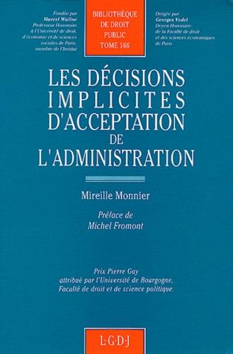 Mireille Monnier - Les décisions implicites d'acceptation de l'administration.