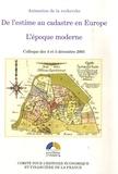 Mireille Touzery - De l'estime au cadastre en Europe - L'époque moderne.