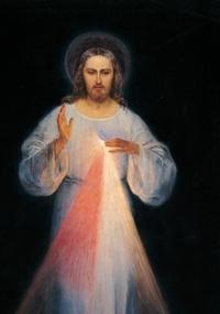 Miséricorde divine - Reproduction du tableau original de Jésus miséricordieux.