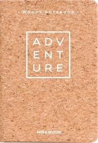 Miss Wood - Adventures - Carnet de notes A6 en liège.