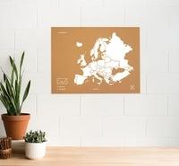 Miss Wood - Woody Map XL Europe blanc.