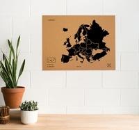 Miss Wood - Woody map XL l'Europe noir.