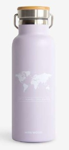 Miss Wood - World light purple bouteille isotherme.