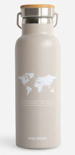 Miss Wood - World stone grey bouteille isotherme.