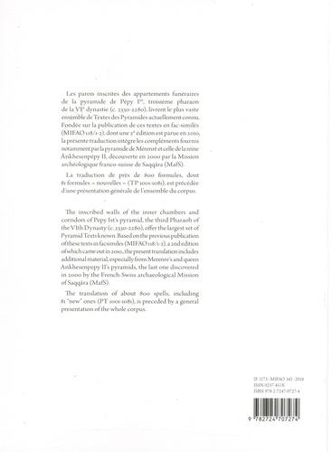 Les textes de la pyramide de Pépy Ier
