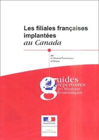Mission Economique d'Ottawa - Les filiales françaises implantées au Canada.
