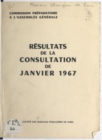 Missions Etrangères de Paris et Jean Guennou - Commission préparatoire à l'assemblée générale - Résultats de la consultation de janvier 1967.