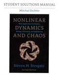 Mitchal Dichter - Student Solutions Manual for Nonlinear Dynamics and Chaos, Second Edition.