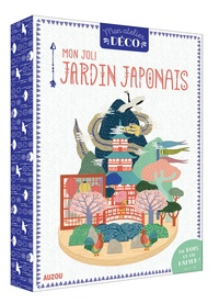 Mlle Hipolyte - Mon joli jardin japonais - Le livre avec 1 socle en bois, des planches de papier prédécoupées, du papier calque découpé, des pastilles adhésives.