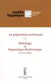 Danielle Leeman et Céline Vaguer - Modèles linguistiques Tome 27 Volume 53 N° : La préposition en français - Philologie et linguistique diachronique (domaine anglais).