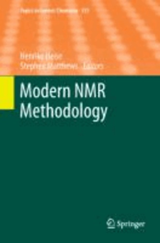 Modern NMR Methodology.