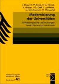 Modernisierung der Universitäten - Umsetzungsstand und Wirkungen neuer Steuerungsinstrumente.