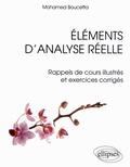 Mohamed Boucetta - Eléments d'analyse réelle - Rappels de cours illustrés et exercices corrigés.