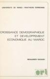 Mohamed Rachidi - Croissance démographique et développement économique au Maroc - Thèse pour le Doctorat d'État en sciences économiques.
