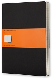 MOLESKINE - Cahier Moleskine carton noir 19 x 25 cm ligné /3