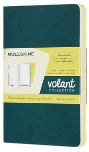 Moleskine - Cahier volant poche blanc vert-citron 2ex.