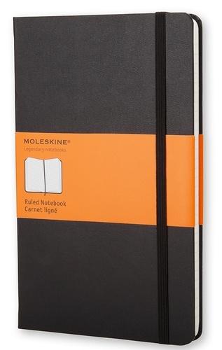 Carnet Moleskine rigide 13 x 21 cm ligné noir
