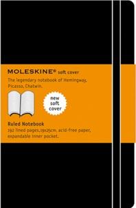 MOLESKINE - Carnet Moleskine souple 19 x 25 cm ligné noir