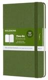 Moleskine - Carnet two go poche rigide vert prairie.