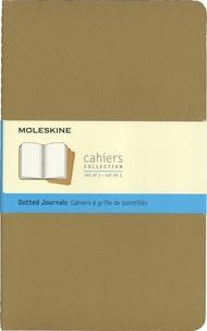Moleskine - Set de 3 cahiers à grille de pointillés grand format.