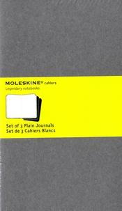 MOLESKINE - Set de 3 cahiers blancs