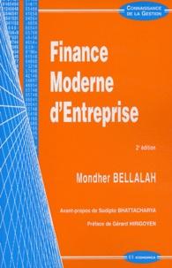 Mondher Bellalah - Finance moderne d'entreprise. - 2ème édition.