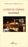 Monesty Junior Fanfil et Altide Canton-Fourrat - Le droit de l'énergie en Afrique.