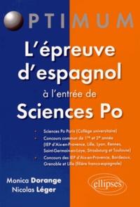 Monica Dorange et Nicolas Léger - L'épreuve d'espagnol à l'entrée de Sciences Po.