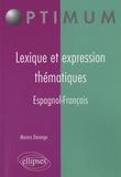 Monica Dorange - Lexique et expression thématiques espagnol-français.