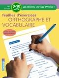Moniek Vermeulen - Feuilles d'exercices orthographe et vocabulaire CM1.