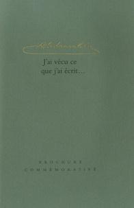 Monika Schulze - Abd-Ru-Shin, j'ai vécu ce que j'ai écrit... - Brochure commémorative.