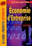 Monique Boulet et Patrick Enreille - Economie d'entreprise 1e année BTS Tertiaires.
