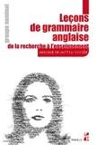 Monique De Mattia-Viviès - Leçons de grammaire anglaise - De la recherche à l'enseignement - Groupe nominal.