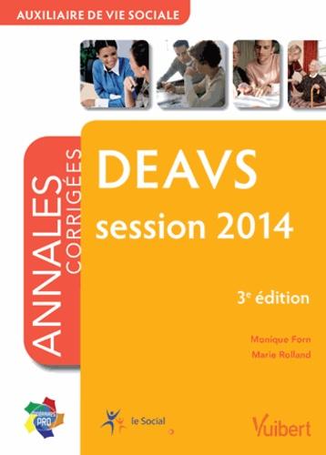 deavs session 2014 - annales corrig u00e9es     monique forn - decitre - livre