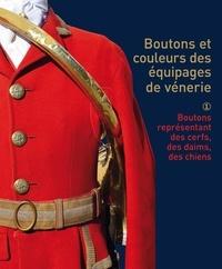Montbel - Boutons et couleurs des équipages de vénerie - Tome 1, outons représentant des cerfs, des daims ou des chiens.