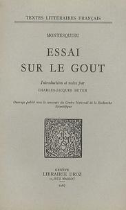 Essai sur le goût -  Montesquieu pdf epub