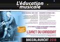 Morant - L'éducation musicale Baccalauréat, Option facultative, toutes séries, Enseignement de spécialité, Série L - Livret du candidat.