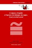 Morgan Sweeney - L'exigence d'égalité à l'épreuve du dialogue des juges - Essai en droit social.