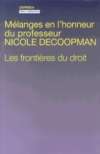 Openwetlab.it Mélanges en l'honneur du professeur Nicole Decoopman - Les frontières du droit Image