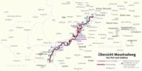 Moselradweg von Perl bis Koblenz - Fahrradführer mit Top-Routenkarten im optimalen Maßstab..