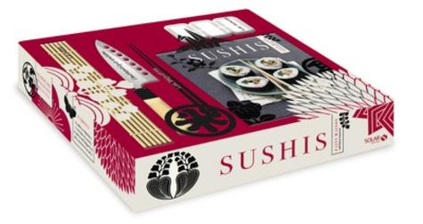 Motoko Okuno - Sushis faits maison - Coffret Livre + natte + couteau + moules.